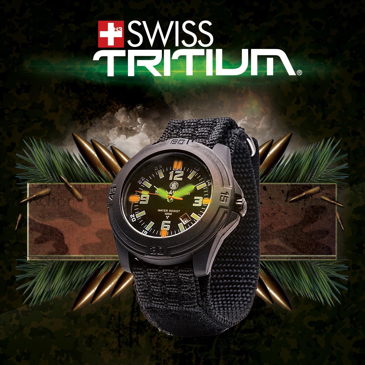นาฬิกาทหาร, นาฬิกาข้อมือผู้ชาย Smith&Wesson Ronda SWISS Quartz SWISS Tritium จาก Buy-Watch