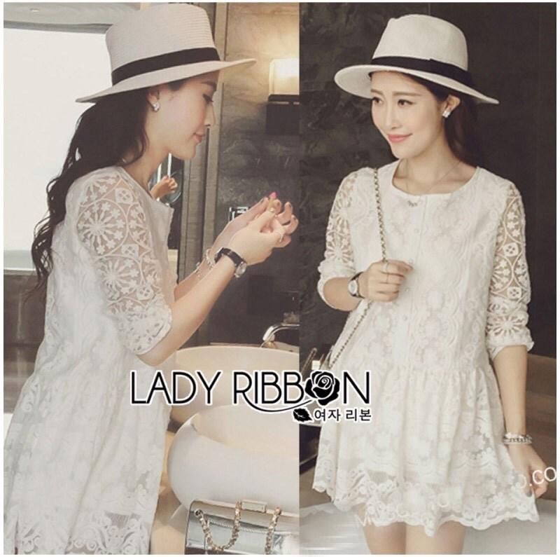 Lady Janie Feminine Everyday Look Button-Down Lace Dress L197-75E05