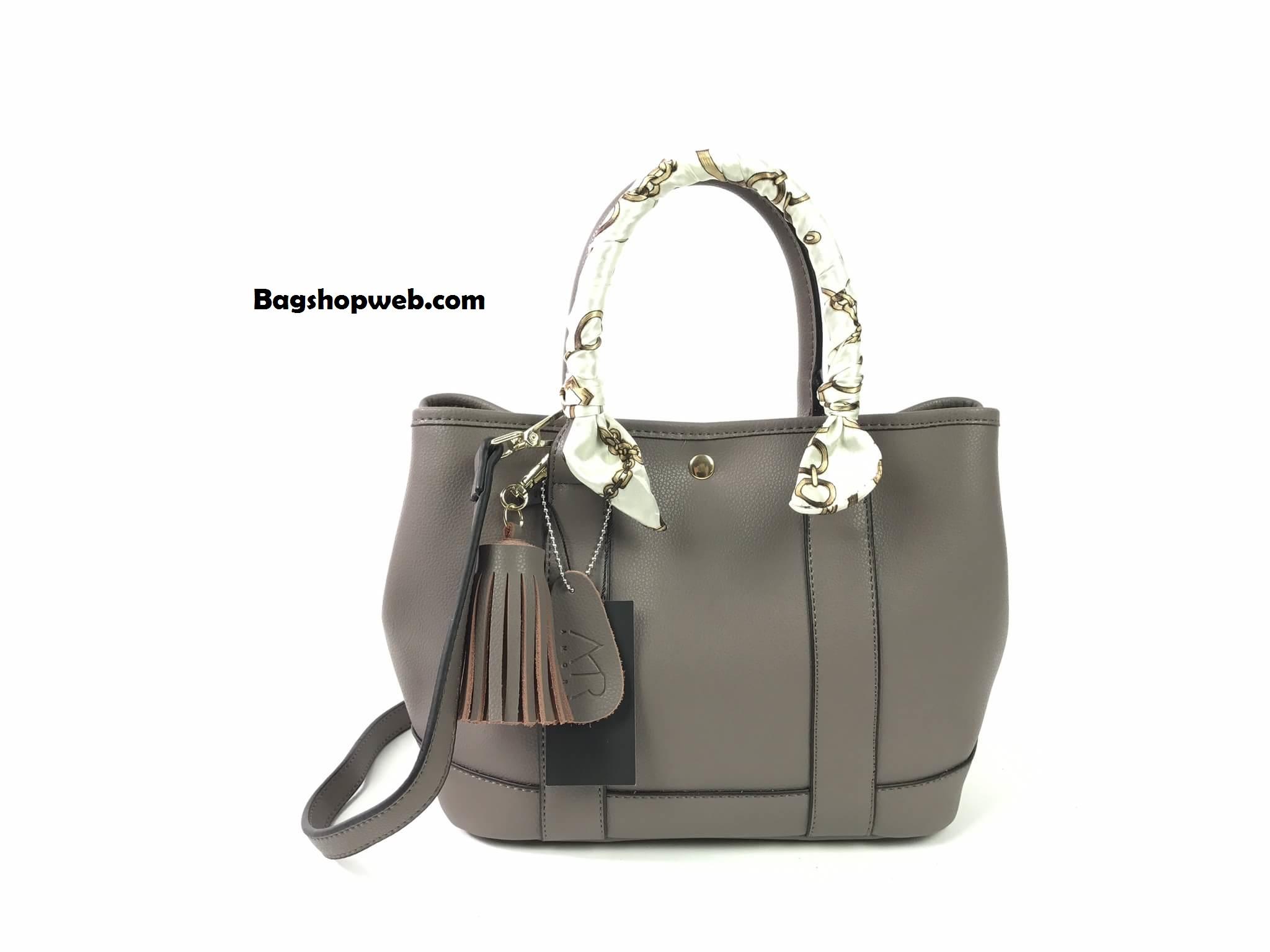 กระเป๋า Amory Twilly bag กระเป๋าทรงถือ กระเป๋าหนังแท้ ทรงสุดฮอต สีเทา