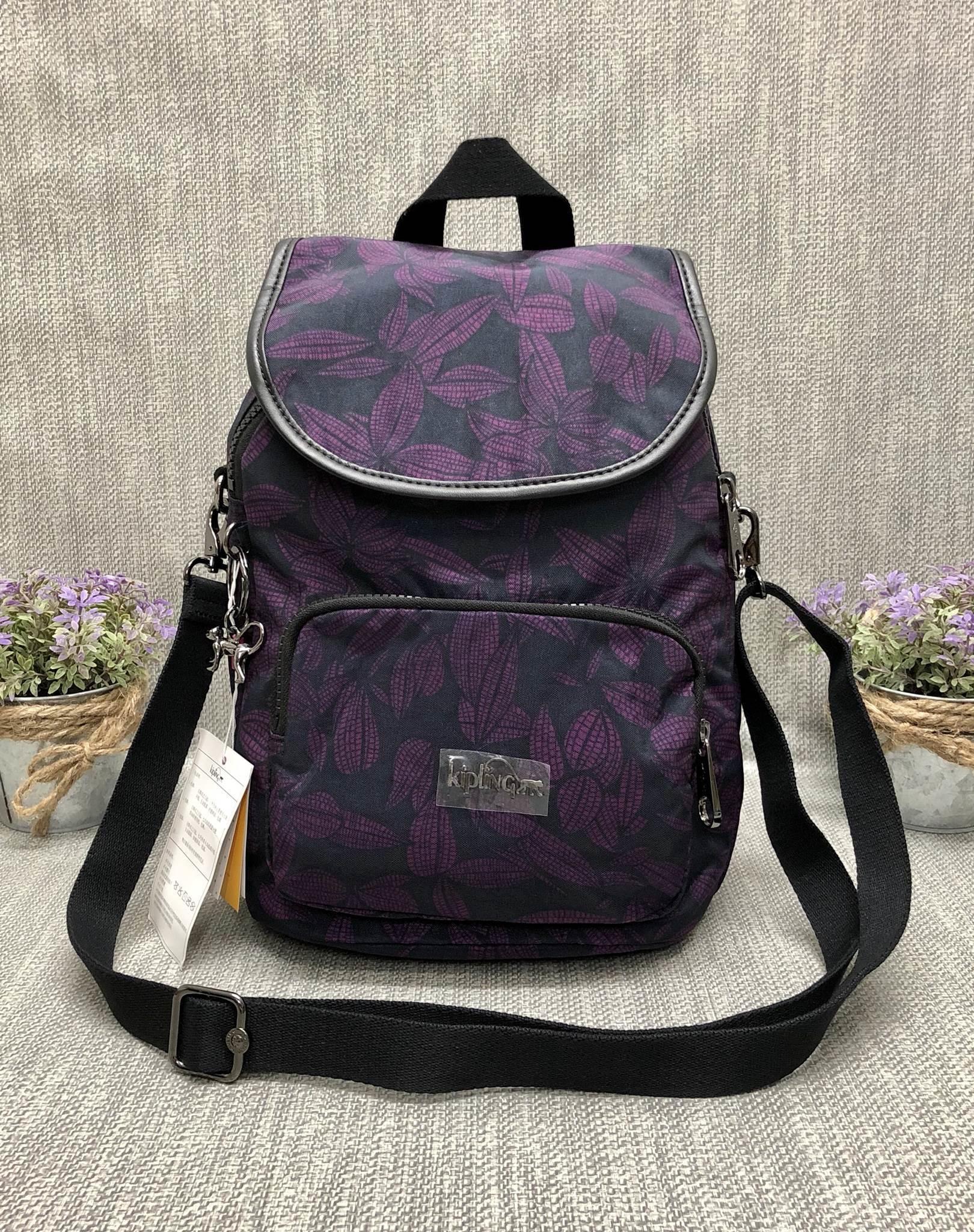 Kipling backpack17 printed shoulde (k12075) มี 3 สีให้เลือกนะคะ *สินค้า outlet
