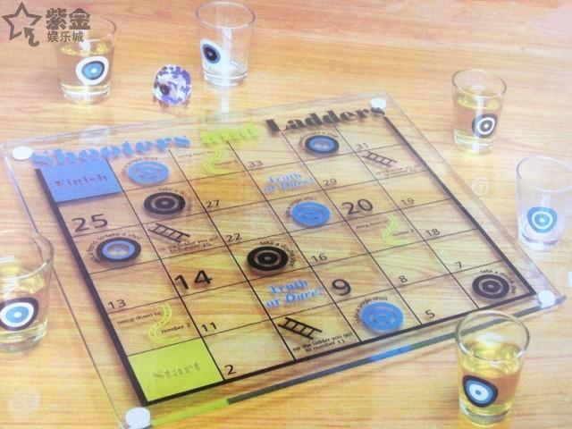 เกมส์บันไดงู แก้วช็อต ของเล่นในวงเหล้า