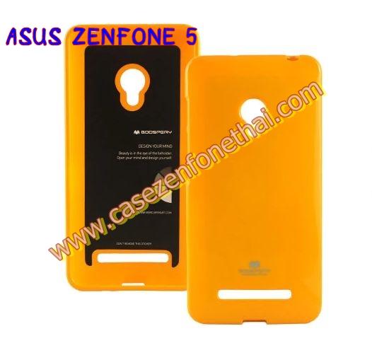 เคส asus zenfone 5 JELLY CASE สีเหลือง เคส TPU นิ่ม แบรนด์เกาหลี