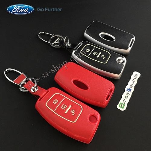 กรอบ-เคส ใส่กุญแจรีโมทรถยนต์ รุ่นเรืองแสง Ford Fiesta,Focus พับข้าง รุ่น 3 ปุ่ม