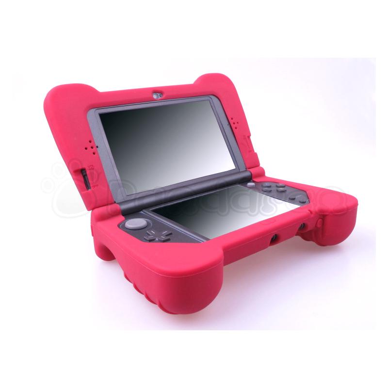 ซิลิโคนเคสพร้อมมือจับ Pandaren สำหรับเครื่อง New 3DS XL (สีแดง)