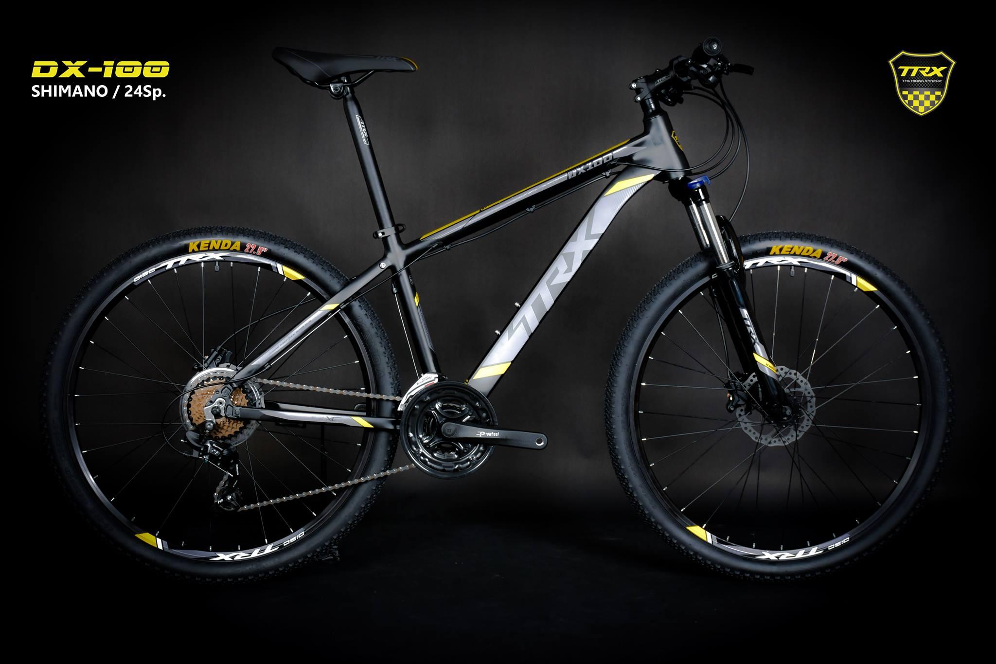 จักรยานเสือภูเขา TRX รุ่น DX100 เฟรมอลู โช๊คล็อค ดิสก์เบรคน้ำมัน ชุดเกียร์ Shimano Tourney 24 Speed