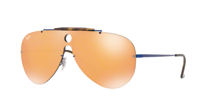 RayBan Shooter RB3581N 90387J BLUE Dark Orange Mirror Gold