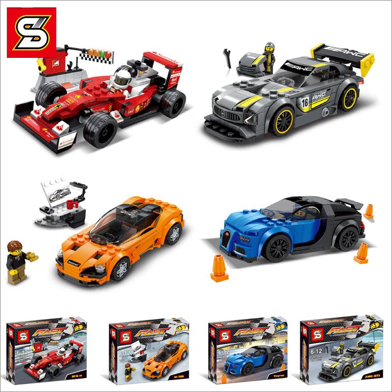 เลโก้จีน SY.6796-6799 ชุด Fast Champions