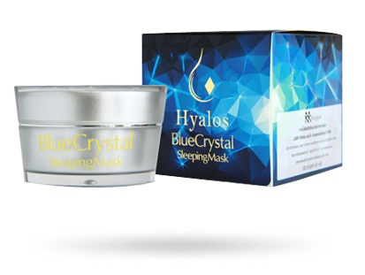 Kristin Ko Kool Hyalos BlueCrytal Sleeping Mask คริสติน โคคูล ไฮยาลอส บลูคริสตัล สลีปปิ้งมาส์ก