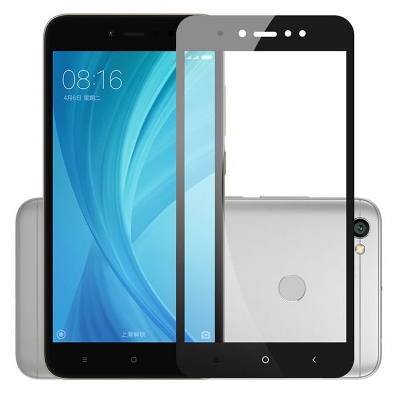 Xiaomi Redmi Note 5A Prime ฟิล์มกระจกนิรภัยเต็มจอ 9H (ขอบดำ)