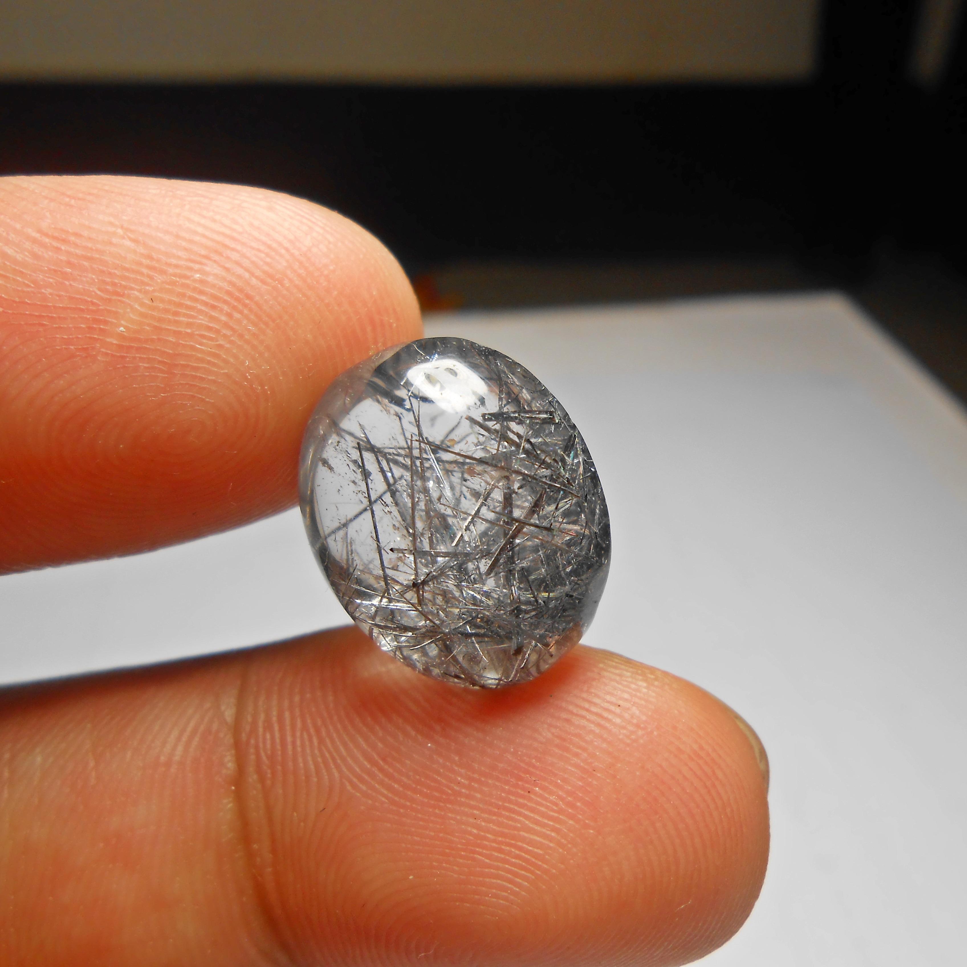แก้วขนเหล็ก เส้นสวย คม สวย น้ำงาม ขนาด 1.8x1.5 cm ทำ จี้ หรือ แหวน สวยๆ