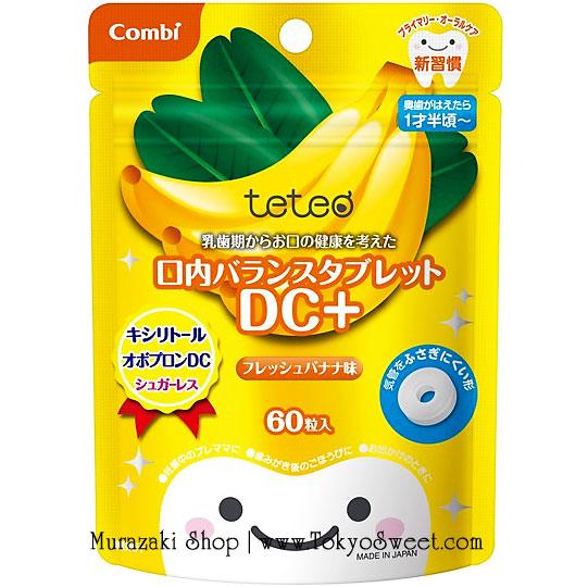พร้อมส่ง ** Combi teteo Oral Balance Tablet DC+ [Banana] เม็ดอมป้องกันฟันผุรสกล้วย บรรจุ 60 เม็ด