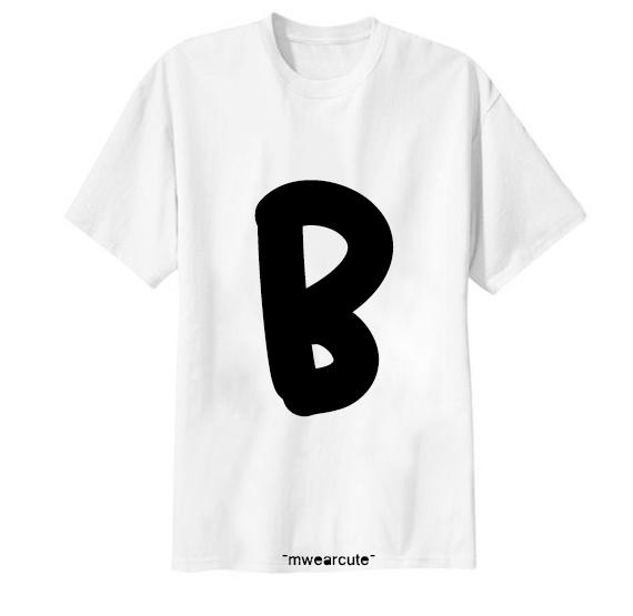 เสื้อยืด ตัวอักษร B