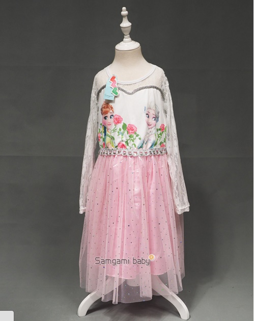Pre-order ชุดเอลซ่า/ Size 120 / Pink