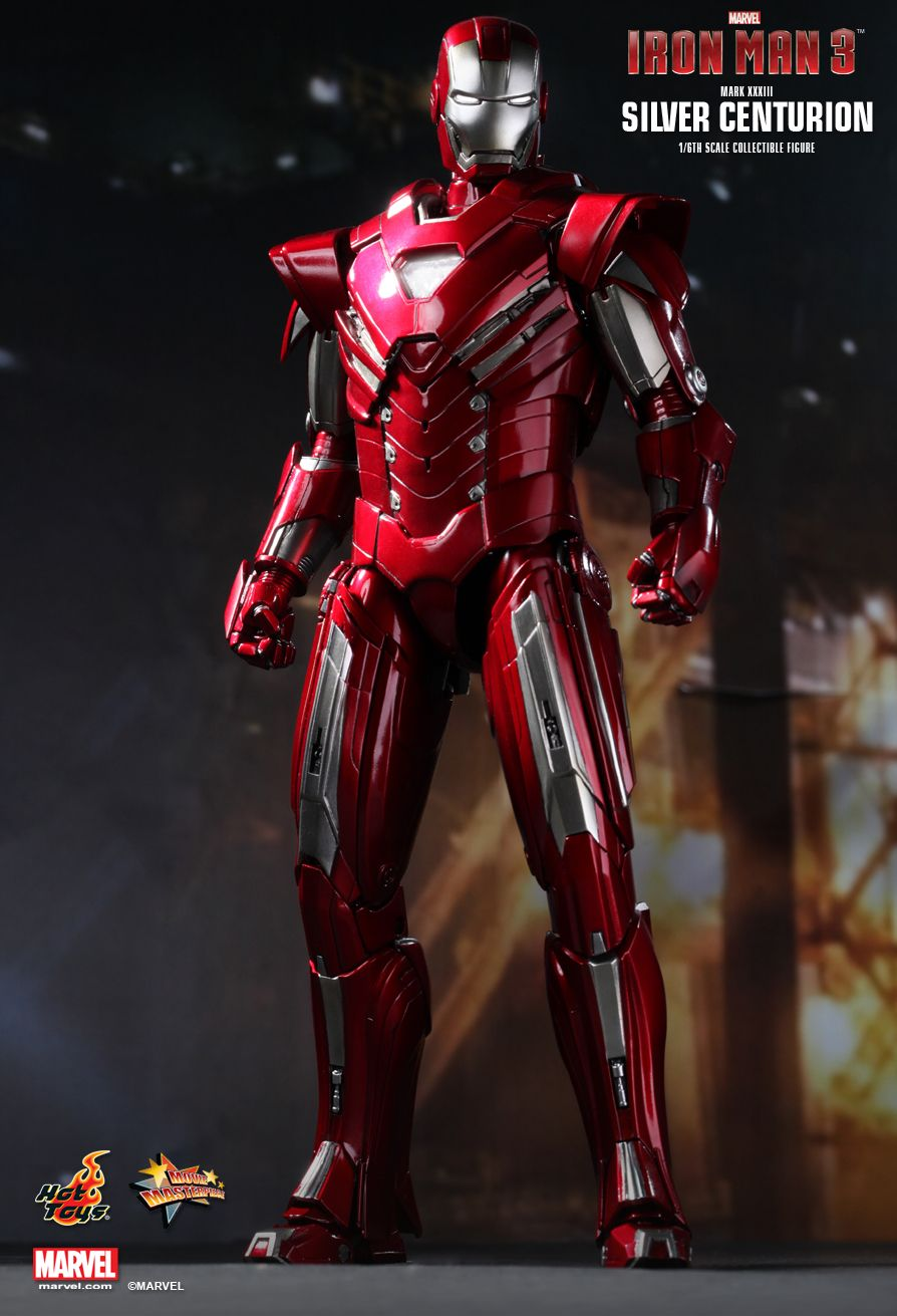 Hot Toys MMS213 IRON MAN 3 - SILVER CENTURION (MARK XXXIII) SE