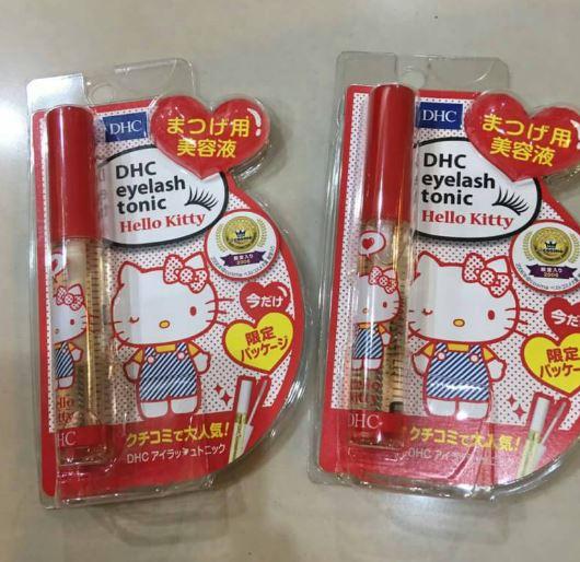 **พร้อมส่ง**DHC Eyelash Tonic Hello Kitty 6.5 ml โทนิกบำรุงขนตาที่อุดมด้วยสารสกัดจากพืชธรรมชาติ ช่วยกระตุ้นการเกิดขนตาใหม่ ให้แข็งแรง ไม่หลุดง่าย ใช้เป็นรองพื้นก่อนทามาสคาร่าหรือใช้ปัดขนตาเช้า เย็น ,