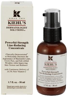 **พร้อมส่ง**Kiehl's Powerful-Strength Line-Reducing Concentrate 50 ml. เซรั่มวิตามินซีบริสุทธิ์ 10.5% ฟื้นบำรุงผิวจากความร่วงโรย ต่อต้านริ้วรอย ช่วยฟื้นฟูผิวพรรณได้อย่างมีประสิทธิภาพและลดริ้วรอยแห่งวัย เมื่อใช้ผลิตภัณฑ์อย่างต่อเนื่องไปสักระยะ จะช่วยใ