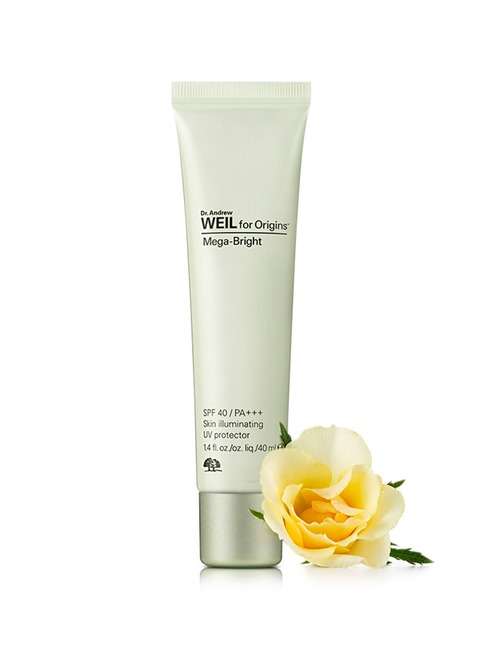 **พร้อมส่ง**Origins Dr. Andrew Weil for Origins Mega-bright Skin Illuminating UV Face Protector SPF40/PA+++ 40 ml. ครีมกันแดด ปกป้องผิวจากรังสียูวีเอ และบีอย่างครบถ้วนสมบูรณ์แบบด้วยสารป้องกันแสงแดดสูตรพิเศษจากธรรมชาติ ช่วยป้องกันการเกิดสีผิวไม่เรียบเนียนส