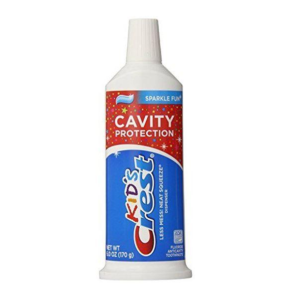 *พร้อมส่ง*Crest Kid's Cavity Protection Neat Squeeze Sparkle Fun Flavor Toothpaste 170g. ยาสีฟันป้องกันฟันผุ สำหรับเด็กยี่ห้อดัง Crest การันตีคุณภาพจาก USA เหมาะสำหรับน้องๆอายุ 2 ปีขึ้นไป ไม่ผสมน้ำตาล มีฟลูออไรด์ป้องกันฟันผุใ ฟันขาวแข็งแรงปากสะอาดหอม