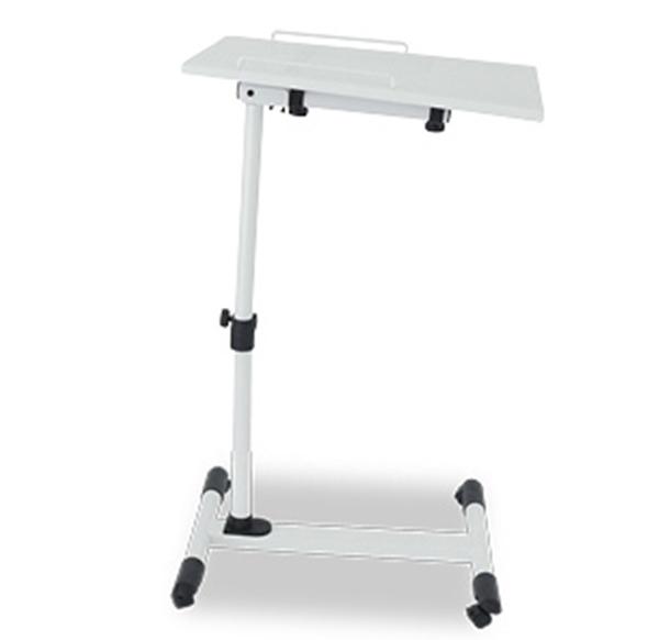 Pre-order โต๊ะวางแล็ปท้อป วางโน้ตบุ๊ค วางแท็บเล็ต วางมือถือ โต๊ะพรีเซนต์งาน ปรับระดับ ปรับองศา มีล้อเลื่อน สีขาว