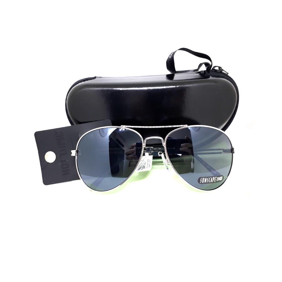แว่นกันแดด แฟชั่น ดีไซด์เก๋ กรอบสีเงิน เลนส์ดำ รุ่น Silver Moning