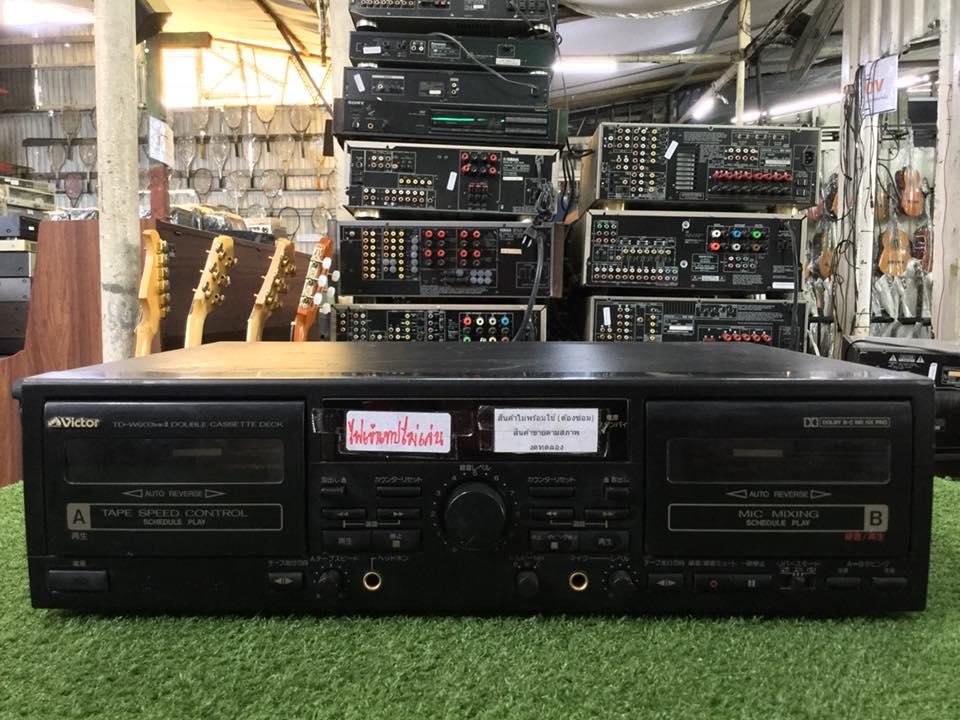 เครื่องเล่นเทป VICTOR TD-W603 MK II สินค้าไม่พร้อมใช้งาน (ต้องซ่อม)