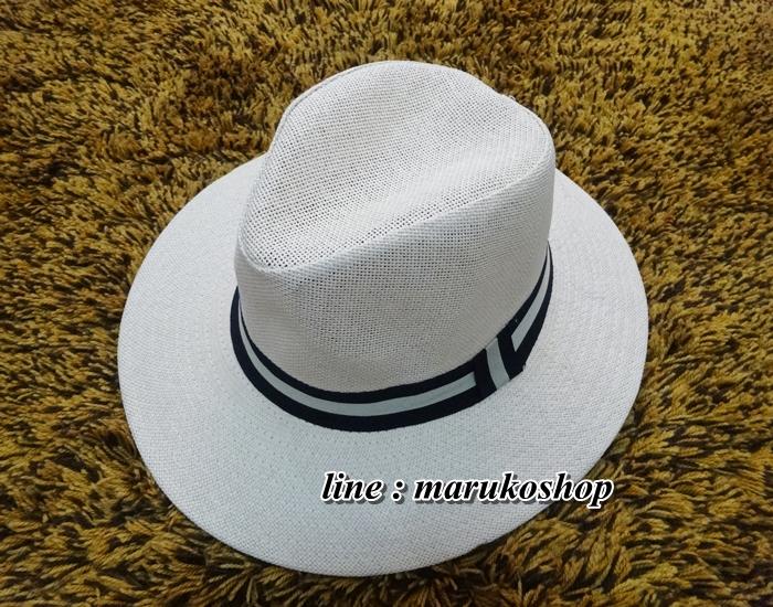 หมวกปานามาปีกกว้าง สีน้ำตาลอ่อน,หมวกทรงปานามา หมวกคาวบอย ปีกกว้าง 6.5 ซม รอบศรีษะ 59 ซม. **สินค้าพร้อมส่งค่ะ***