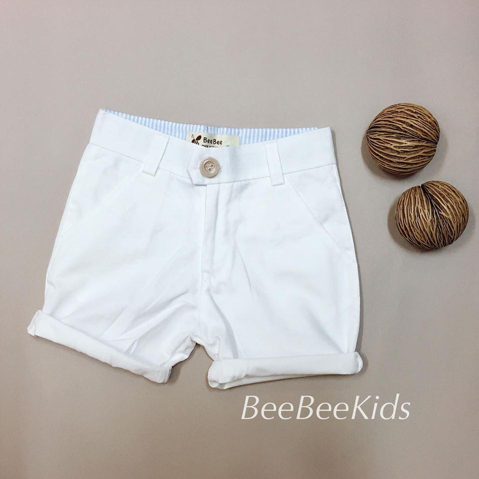 กางเกงสามส่วนเด็ก สีขาว (S M L)