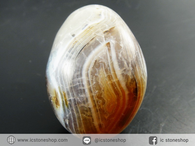 เดนไดทริก อาเกต Dendritic Agateขัดมันจากมาดากัสการ์ (69g)