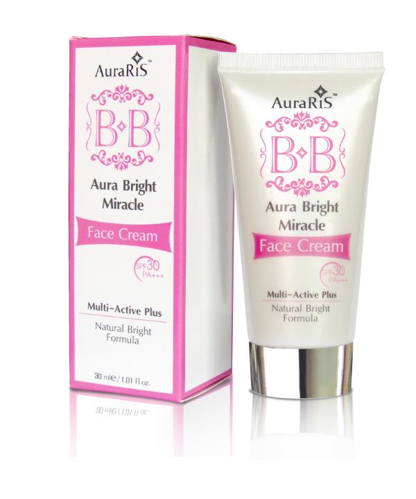 AuraRIS BB Face Cream SPF30 PA+++ 30 ml. image เนรมิตผิวหน้าให้แลดูขาวใส บริ๊ง ไบรส์ อมชมพู ดูเรียบเนียนเป็นธรรมชาติได้ทันใจ ช่วยปกปิดริ้วรอยและจุดด่างดำได้หมดจด พร้อมด้วยสารสกัดอันทรงคุณค่าในการปรับผิวให้ขาวยาวนานอย่างต่อเนื่องถึง 4 ชนิดด้วย อัลฟ่าอาร์บู