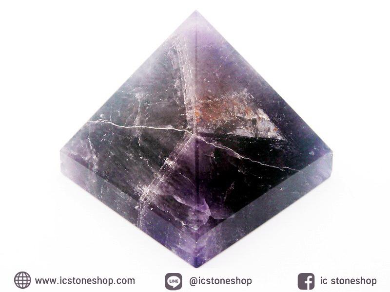 หินทรงพีระมิค-อเมทิสต์ (Amethyst) (252g)