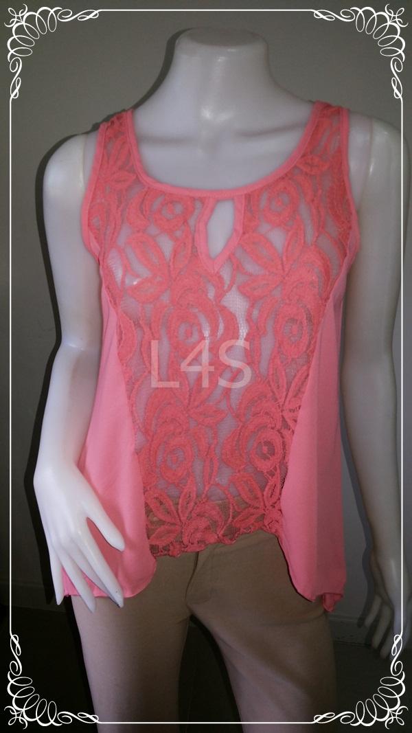 jp3590-เสื้อแฟชั่น สวยๆ นำเข้า สีส้ม zen spell อก 33-34 นิ้ว