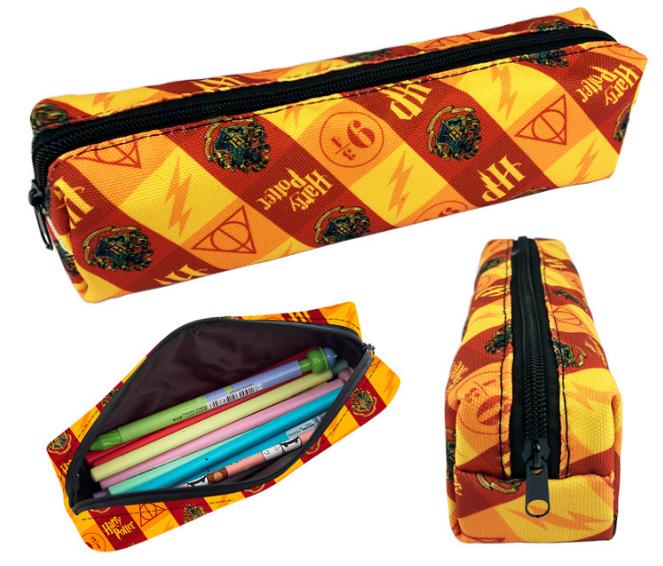 กระเป๋าดินสอแฮร์รี่ พอตเตอร์ สีแดงสลับเหลือง แบบผ้า