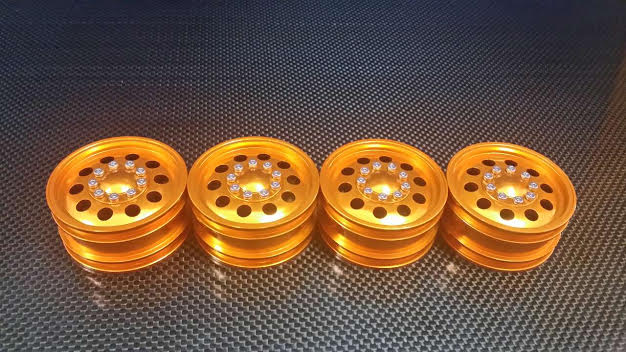 ALLOY FRONT&REAR 1:10 WHEEL ( 10 HOLES)-2PRS SET