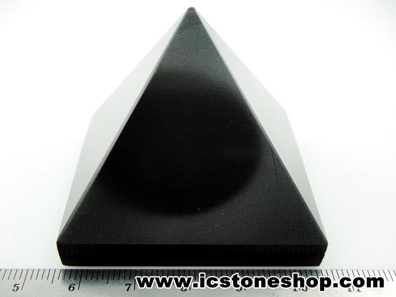 ▽หินทรงพีระมิค-อาเกตสีดำ Black Agate (143g)
