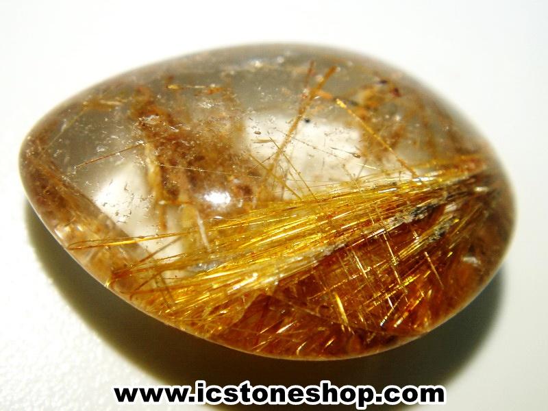 ▽=โปรโมชั่น= พลอยไหมทอง Golden Rutilated Quartz (15ct.)