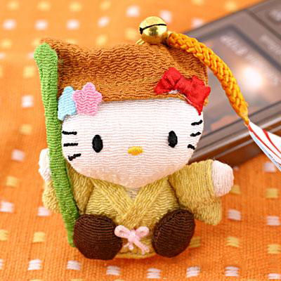 ที่ห้อยมือถือ Hello Kitty ซีรี่ย์เทพเจ้าทั้ง 7 รุ่น Jyurojin ให้สุขภาพร่างกายแข็งแรง ไม่มีโรคภัยค่ะ