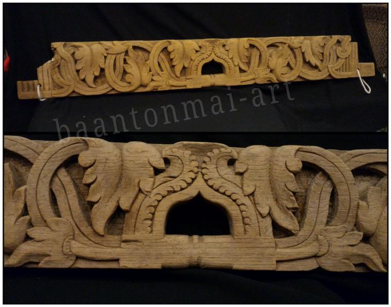 ไม้แกะสลักศิลปะพม่า งานเก่า