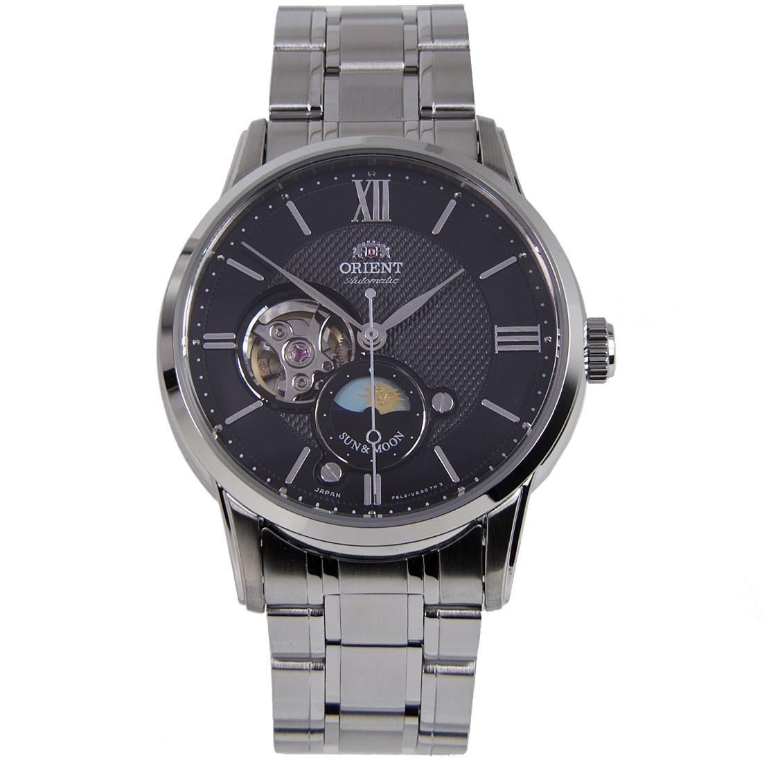 นาฬิกาผู้ชาย Orient รุ่น RA-AS0002B00B, Sun & Moon Automatic Open Heart