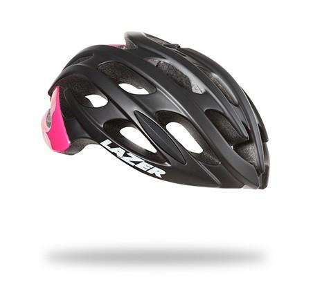 หมวกจักรยาน Blade / Black Pink + LED + Madcup