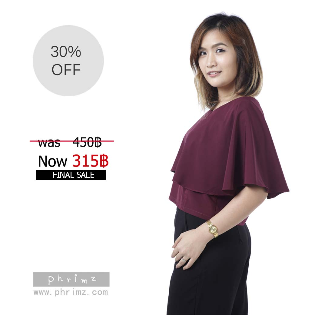 เสื้อให้นม Phrimz : Ivie Breastfeeding Top - Deep Red