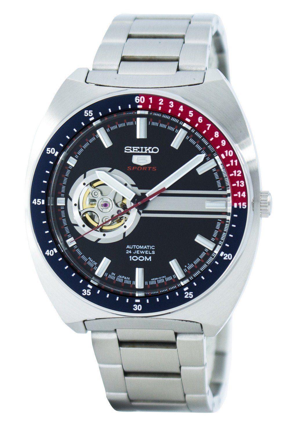 นาฬิกาผู้ชาย Seiko รุ่น SSA329J1, Seiko 5 Sports Automatic 24 Jewels Open Heart Japan Men's Watch