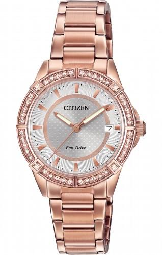 นาฬิกาผู้หญิง Citizen Eco-Drive รุ่น FE6063-53A, POV Swarovski Elegant