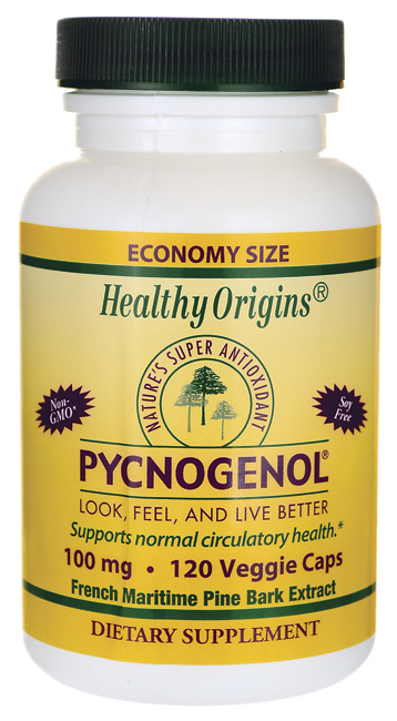 Healthy Origins Pycnogenol 100 mg, Capsules 120 ea