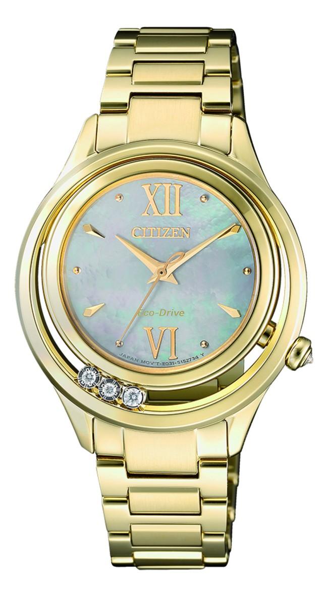 นาฬิกาผู้หญิง Citizen Eco-Drive รุ่น EM0512-82D, Stainless Steel