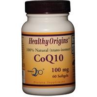 Healthy Origins CoQ10 Kaneka Q10 Gels 100 mg 60 Softgels