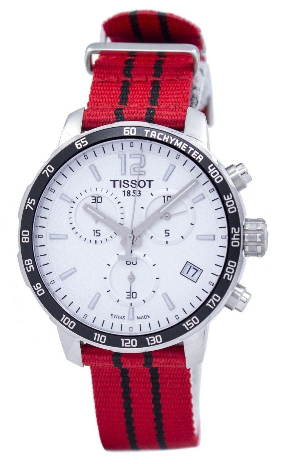 นาฬิกาผู้ชาย Tissot รุ่น T0954171703704, TISSOT QUICKSTER CHRONOGRAPH NBA CHICAGO BULLS