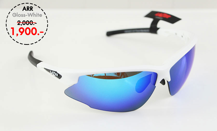ARR - Gloss White - แว่นตาจักรยาน LAZER