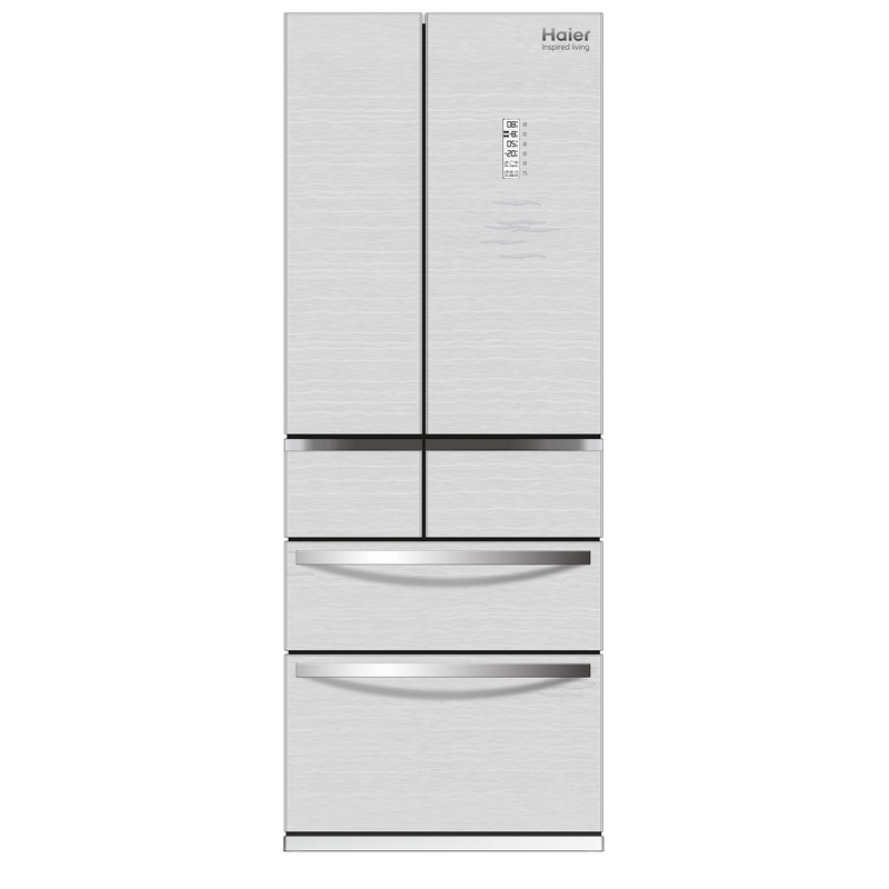 ตู้เย็น 6 ประตู 14.6 คิว สีขาว HAIER HRF-MD356AG หน้ากระจกสีขาว