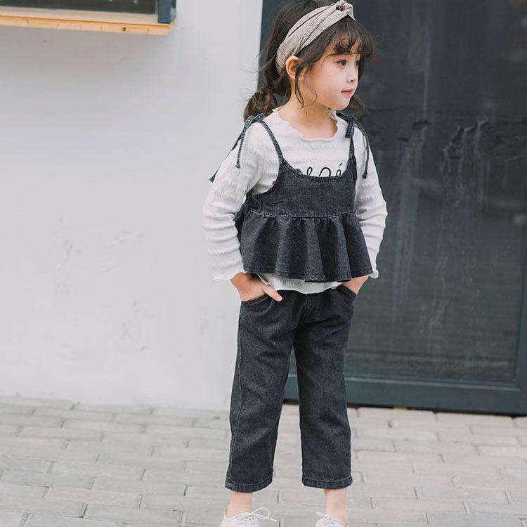 YY39-เสื้อ+เอี้ยม-กางเกงยีนส์ 5 ตัว/แพค ไซส์ 100-140
