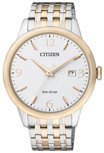 นาฬิกาข้อมือผู้ชาย Citizen Eco-Drive รุ่น BM7304-59A, 50m Sapphire Japan Elegant